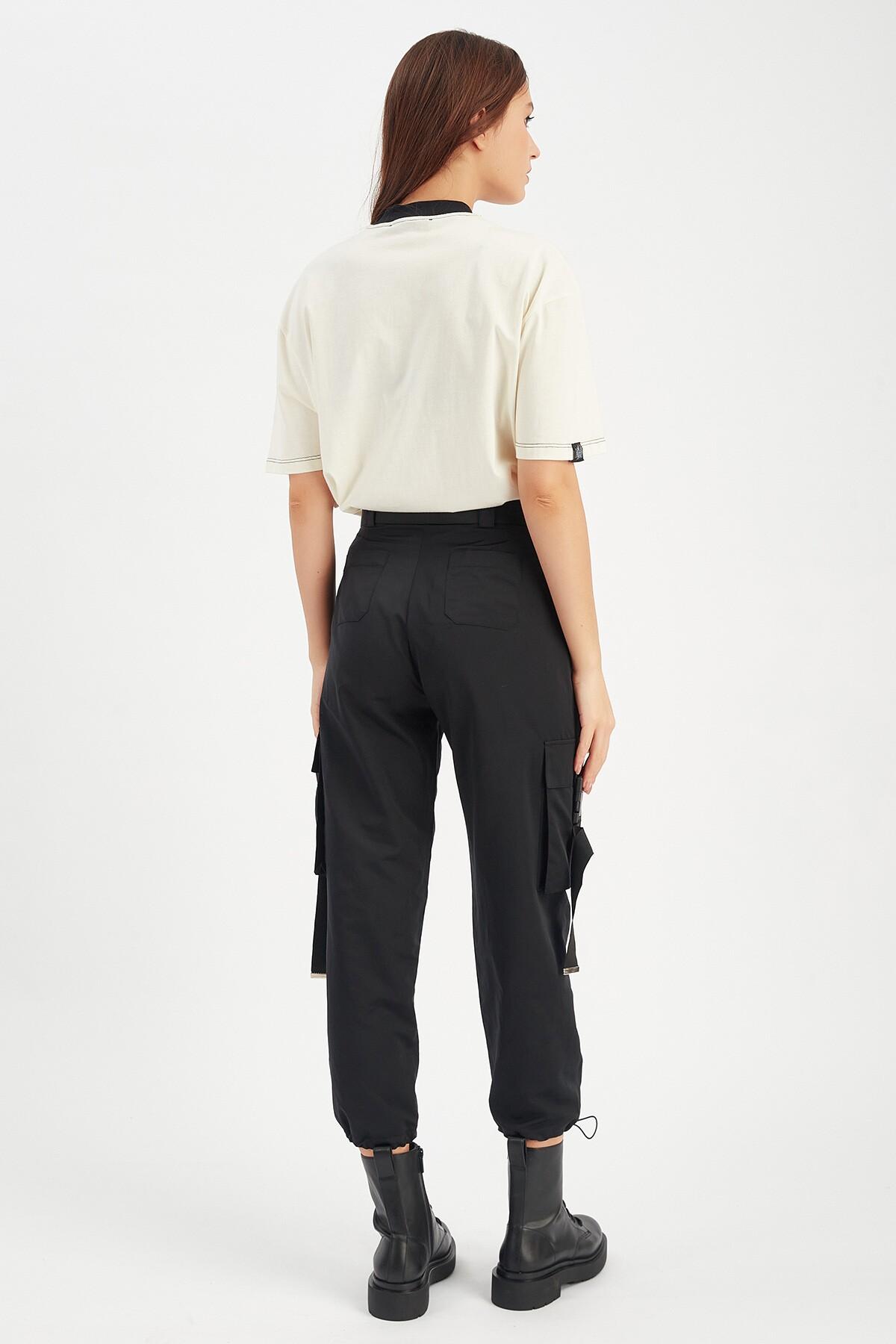 Siyah Jogging Kadın Pantolon | Mk21W660099