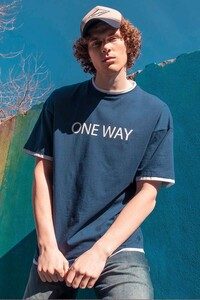 One Way İndigo Erkek T-Shirt